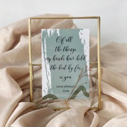 Standing-Brass-Frame-with-greeting-cards