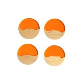 Moon-Series-Coaster-Orange-Set-of-4