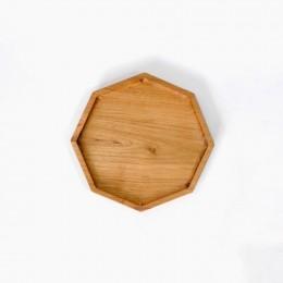 Hexagonal-Wooden-Plate