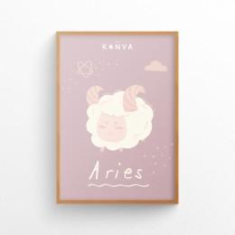 Art-Print-Zodiac-Aries