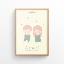 Art-Print-Zodiac-Gemini