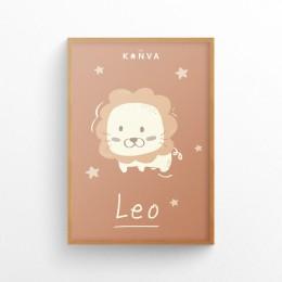 Art-Print-Zodiac-Leo