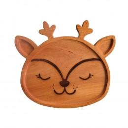 Deer-Wooden-Food-Tray