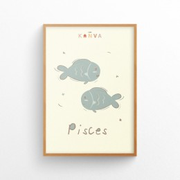 Art-Print-Zodiac-Pisces
