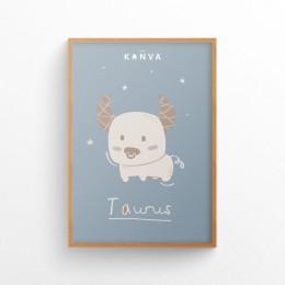 Art-Print-Zodiac-Taurus