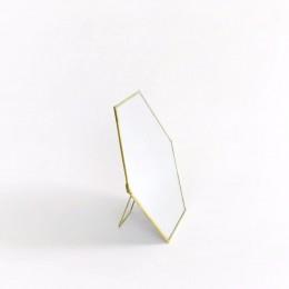 Hexa-Brass-Standing-Mirror